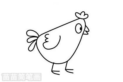 小鸡简笔画图片大全作品二