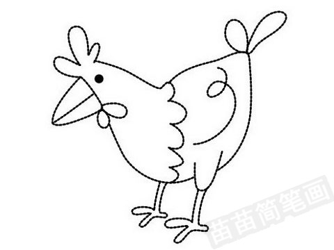 小鸡简笔画图片大全作品四