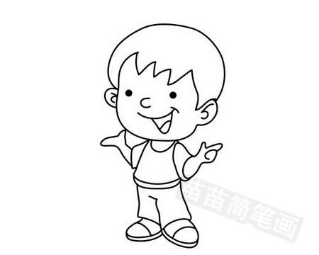 小男孩简笔画图片大全 教程