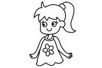 小女孩简笔画图片大全、教程