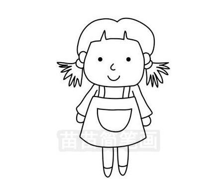 小女孩简笔画图片大全作品三