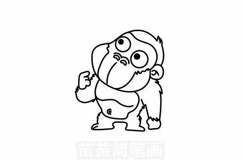 猩猩简笔画大图