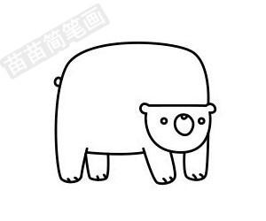 熊简笔画图片步骤一