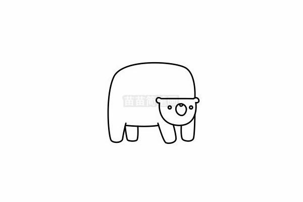 熊简笔画图片步骤六