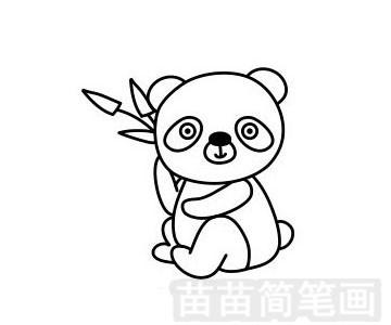 熊猫简笔画图片步骤一