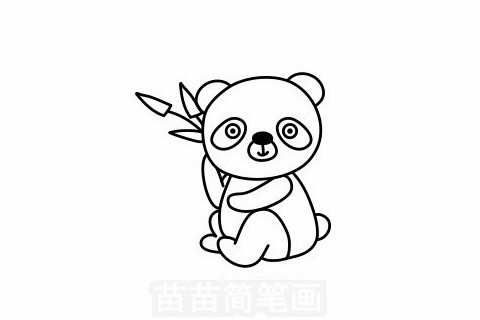 熊猫简笔画大图