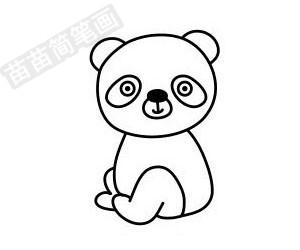 熊猫简笔画图片步骤五