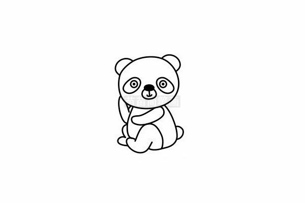 熊猫简笔画图片步骤六