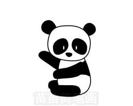 熊猫简笔画图片大全作品一