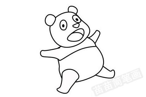 熊猫简笔画图片大全作品四