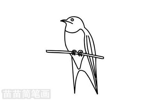 燕子简笔画图片大全作品二