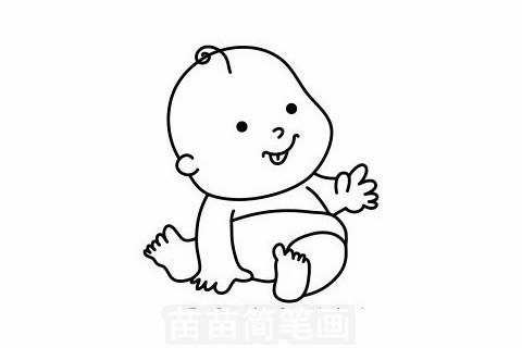 婴儿简笔画大图