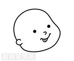 婴儿简笔画图片步骤三