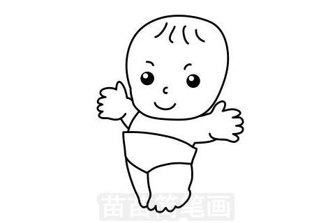 婴儿简笔画图片大全作品一