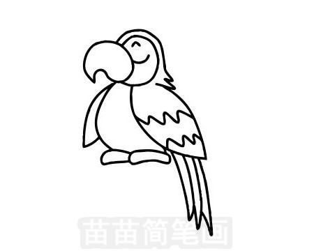 鹦鹉简笔画图片大全作品一