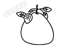柚子简笔画图片步骤一
