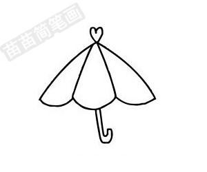 雨伞简笔画图片步骤一