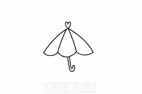 雨伞简笔画大图