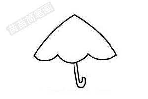雨伞简笔画图片步骤四