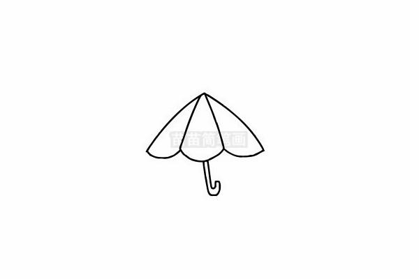 雨伞简笔画图片步骤六