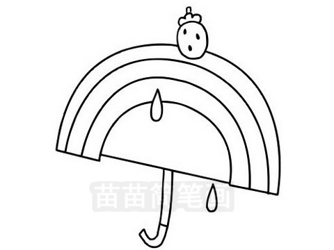 雨伞简笔画图片大全作品三