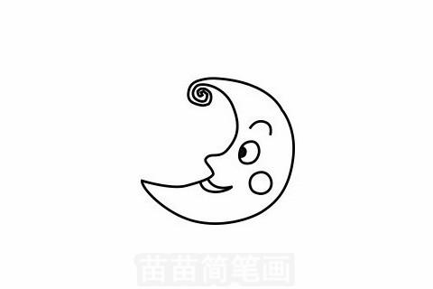 月亮简笔画大图