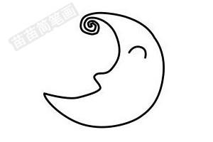 月亮简笔画图片步骤四