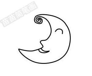 月亮简笔画图片大全 画法