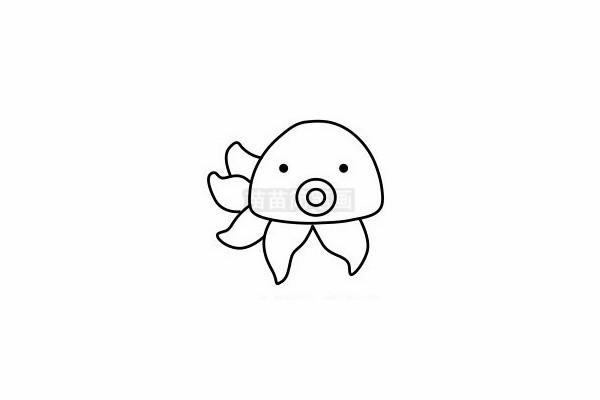 章鱼简笔画图片步骤六