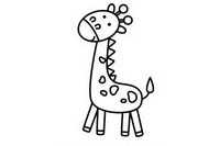 长颈鹿简笔画怎么画、图片大全