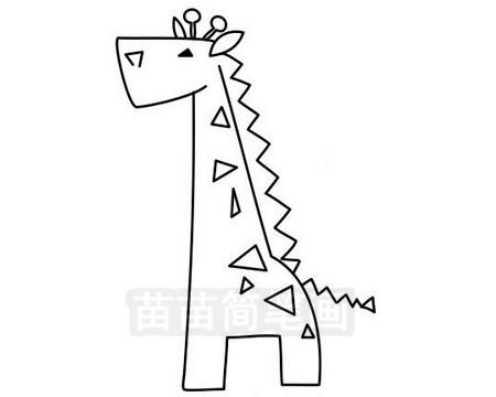 长颈鹿简笔画图片大全作品三