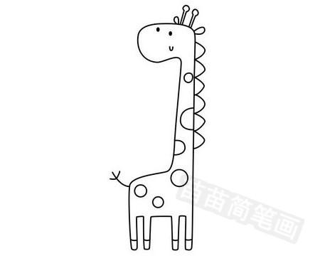 长颈鹿简笔画图片大全作品五
