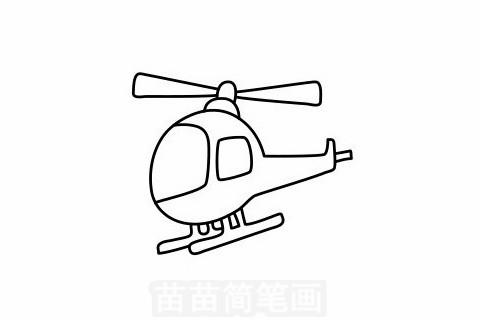 直升飞机简笔画图片大全,教程