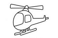直升飞机简笔画图片大全、教程
