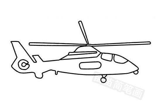 直升飞机简笔画图片大全作品五