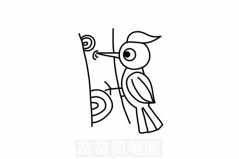 啄木鸟简笔画大图