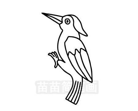 啄木鸟简笔画图片大全作品三