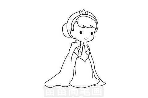 艾莎公主简笔画图片大全作品一