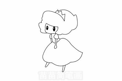 爱洛公主简笔画大图