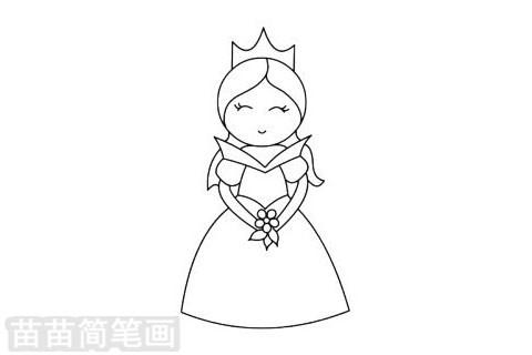 爱洛公主简笔画图片大全作品二