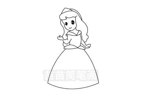 爱洛公主简笔画图片大全作品三