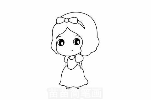 白雪公主简笔画大图