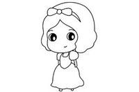 白雪公主简笔画图片大全、教程
