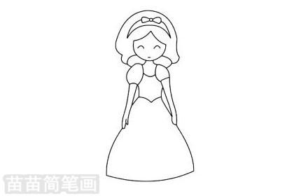 白雪公主简笔画图片大全作品二