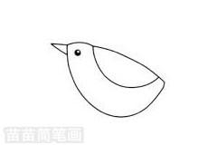小鸟简笔画图片步骤二