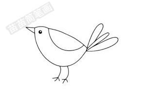 小鸟简笔画图片步骤四