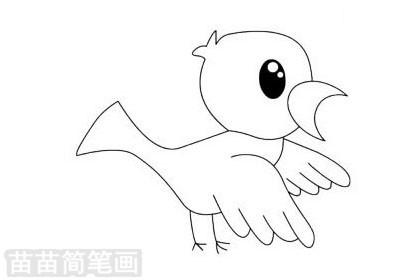 小鸟简笔画图片大全作品二
