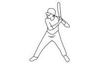 棒球运动员简笔画图片大全、教程