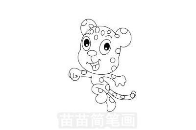 豹子简笔画图片大全 教程