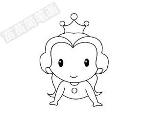 简笔画 人物简笔画 美国卡通人物简笔画 >> 正文内容   贝儿公主简笔图片